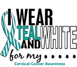 I Wear Teal and White 10 Cervical Cancer Shirts
