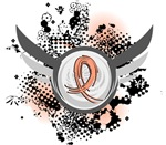 Wings and Ribbon Uterine Cancer Shirts