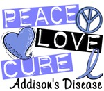 Peace Love Cure 1 Addison's Disease Shirts and Gif