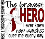Bravest Hero I Knew Head and Neck Cancer Gifts