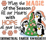 Endometrial Cancer Christmas Cards and Gifts