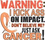 Kick Ass On Impact Uterine Cancer Shirts