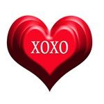 XOXO Heart Triple Red