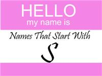 Names That Start With S