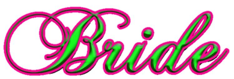 Bridal Script Pink and Green