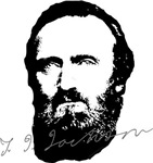 Stonewall Jackson Portrait with Signature
