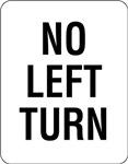 No Left Turn Sign