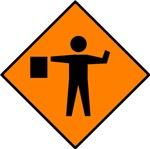 Flagman Sign