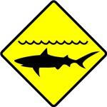 Shark Alert Warning Sign