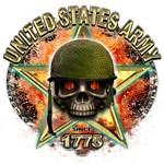 US Army Skull Freedom 1775