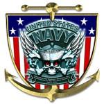US Navy 1775 Skull Shield