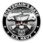 USN Boatswains Mate Skull