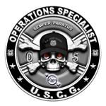 USCG Operations Specialist Skull OS