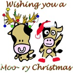 Cow Christmas Moo-ry Christmas