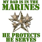 Marine Dad Protects And Serves