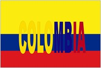 Colombia flag w/Colombia name written