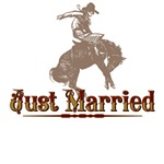 Country Western  Just Married T-Shirts