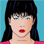 Pop Art Illustration of Girl  Amber
