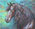 Zelvius the Friesian horse
