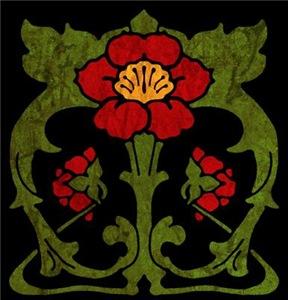Art Nouveau Floral Motif