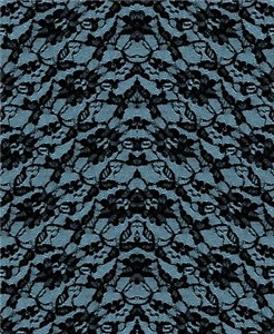 Blue And Black Lace Pattern
