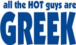 All the HOT guys are Greek T-shirts