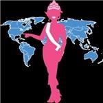 Teen Beauty Queen America Map T-shirts