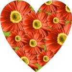 Red Gerbera Daisy Heart T-shirts & Gifts