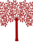 Red Tree Graphic T-shirts