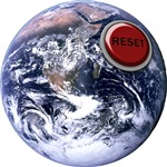 Earth Reset Button T-shirts