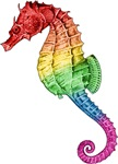 Rainbow Seahorse T-shirts & Gifts