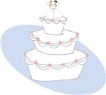 2 Brides Wedding Cake T-shirts & Gifts