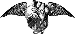 Heart With Lock And WIngs