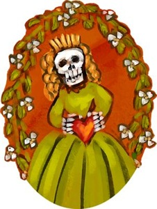 Skeleton Lady With Heart
