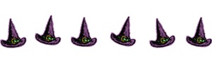 Row Of Witch Hats