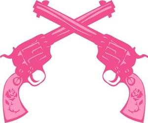 Pink Crossed Pistols