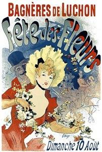Vintage Poster Art Woman Fleur