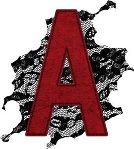 Black Lace Scarlet Letter A
