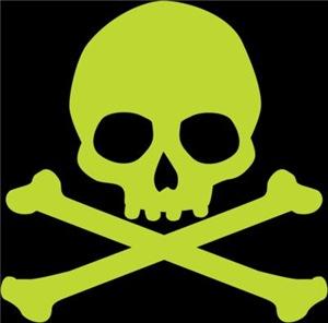 Green Skull And Crossbones
