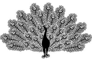 Gothic Skull Peacock