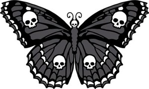 Gothic Skull Butterfly