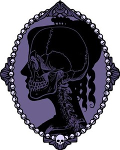 Gothic Skull Cameo