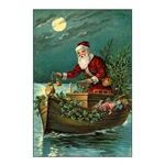Santa in Christmas Boat