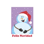 Feliz Navidad - Jolly Snowman Santa