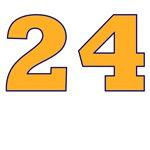 24 Orange/Blue