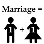 Marriage Equals One Man Plus One Woman