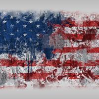 USA Flag Graffiti