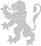 Grey Lion Rampant