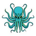 All Seeing Octopus Cyan