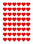 8-bit heart grid
